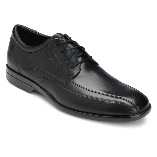 Business Lite Bike Front - Men's Black Dress Shoes